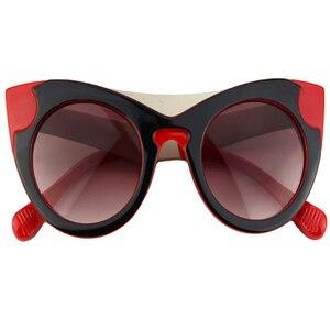Image 3 - Lunettes de soleil yeux de chat femmes Vintage lunettes rétro marque concepteur de luxe lunettes de soleil femme dames filles