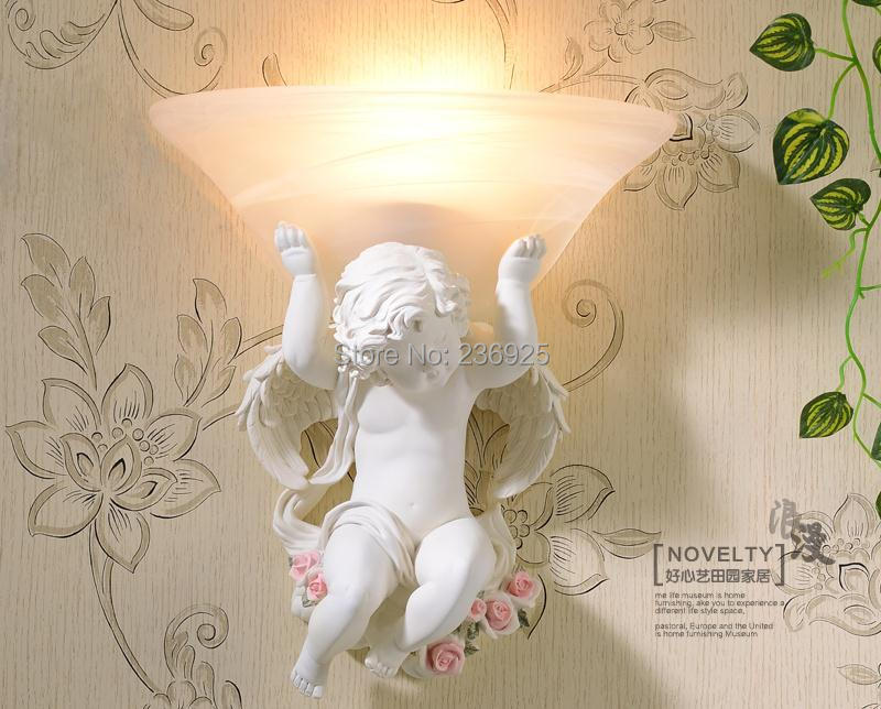 Resin Angel light Carving Love Cupid  Romance Wall Lamp  WL4