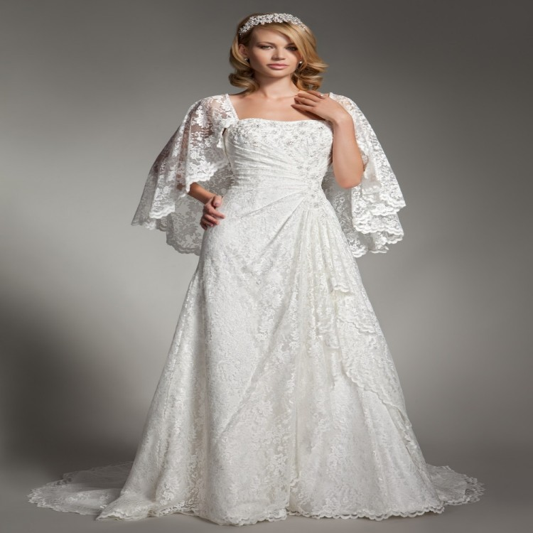 2015 Plus Size Boho Wedding Dresses With Jacket White