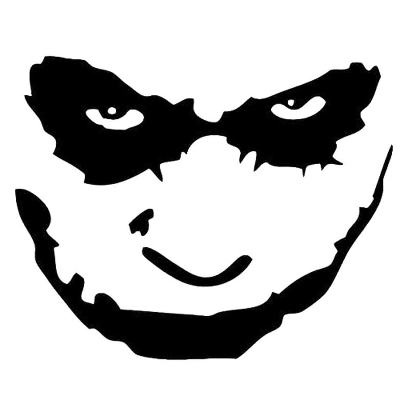 18.3cm*14.7cm Joker Batman Film Face Fashion Car-Styling Stickers Decals Vinyl Black/Silver S3-6986