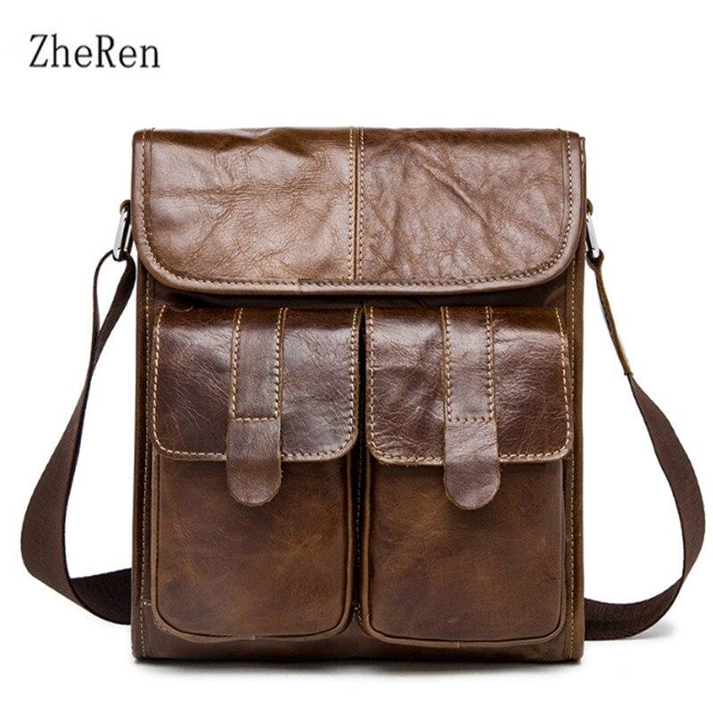 Leather man bag retro mens one-shoulder bag, shoulder bag, casual, baotou, man bag luggage tag
