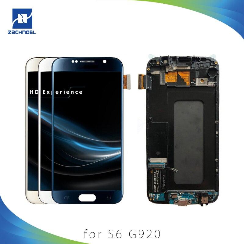 5.1 ''pour SAMSUNG Galaxy S6 G920 écran lcd G920i G920P G920f G920V G920A G920W numériseur à écran tactile avec Cadre Remplacement