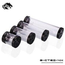 Bykski 60 мм цилиндрический резервуар для водяного охлаждения 80 мм 130 мм 180 мм 240 мм B-CT60-4H