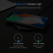 FLOVEME 8mm QI Wireless Charger for iPhone X 8 10 for Samsung Galaxy S8 S8 Plus Note 8 S7 Edge Nexus 4 5 USB Charging Pad