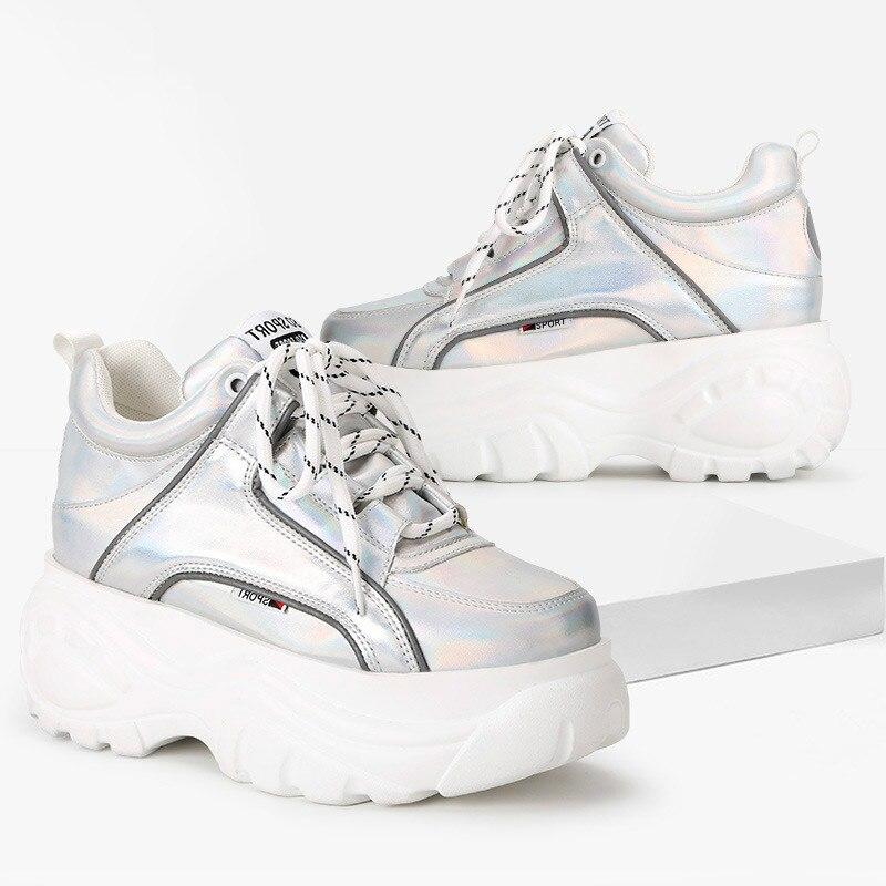 b29a8411 Marca Zapatos Deporte De Casuales 2019 Zapatillas Mujer Moda Mayor  Plataforma Nuevos Zapatos atado zYqFxtwt
