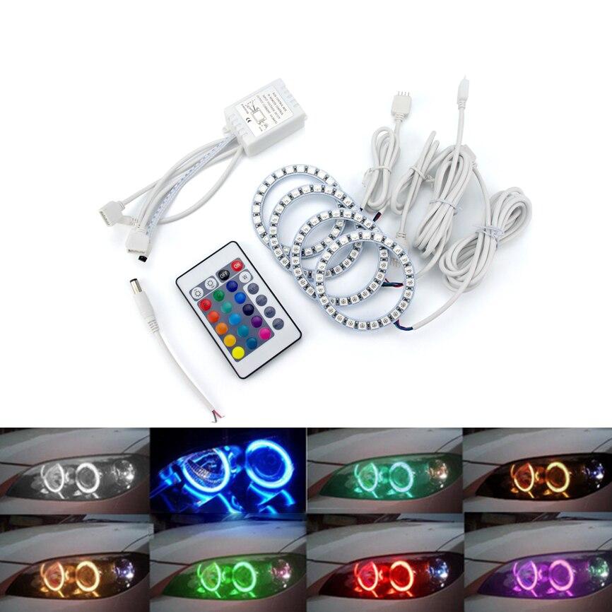 Multi-warna 60mm 70mm 80mm 90mm 100mm 120mm Malaikat Mata 5050 RGB - Lampu mobil - Foto 4
