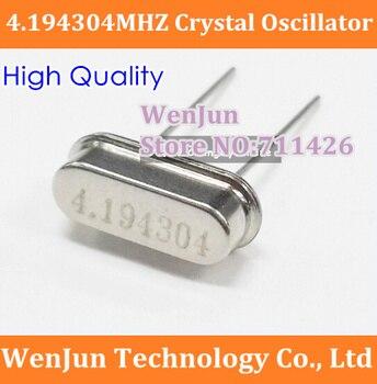 1000PCS Free Shipping 4.194304MHZ  Crystal Oscillator 4.194304MHZ Plug-in crystal HC-49S  Quartz crystal 20PPM 20PF