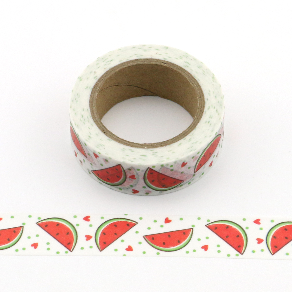 10M Roll Summer Watermelon Washi Tape Scrapbooking Tools Cute Cinta Adhesiva Decorativa Masking Tape Japanese Office Stationery