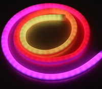 50m 360 degree round neon led tube digital RGB ip neo neon lights soft hose 5050 dmx dimmable led neonflex pixel rope lights