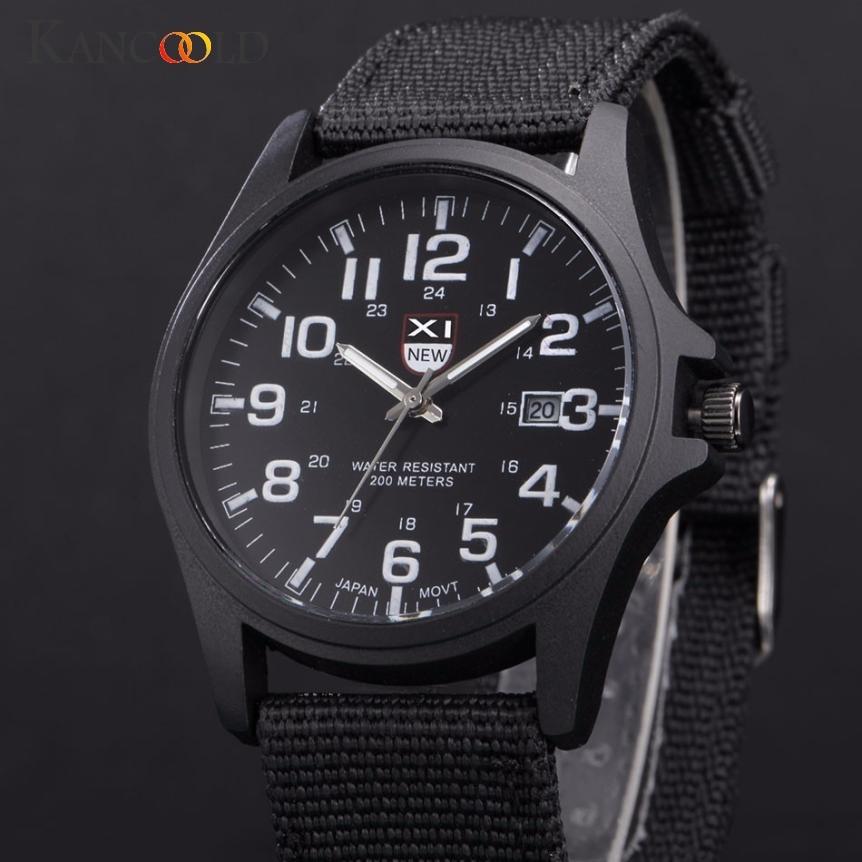 Men's Watch Outdoor Date Stainless Steel Military Sports Watch Analog Quartz Army Wrist Watches Man Clock 2018JUL16