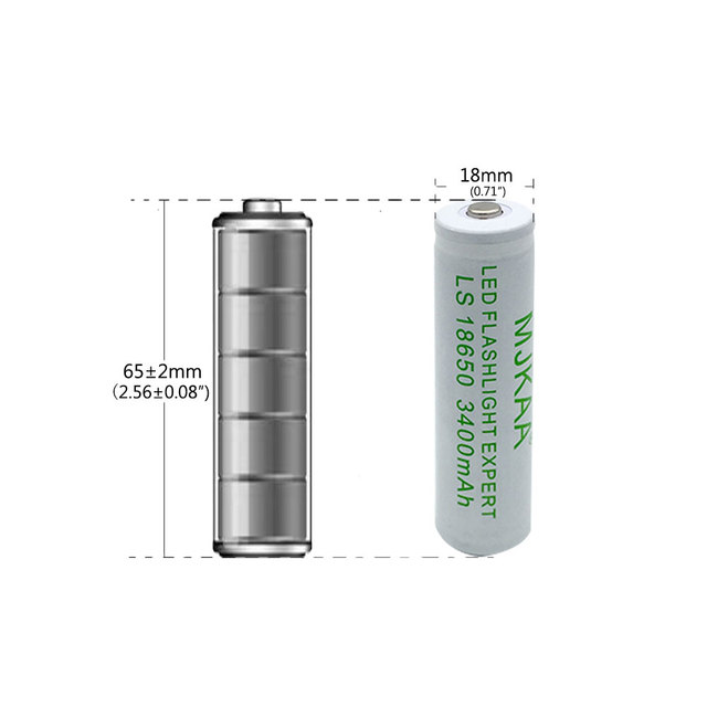 4pcs 18650 Rechargeable Battery 3400mah(not AA/AAA Battery) 3.7v Mah Li-ion Tip Head Bateria for Flashlight  Headlamp