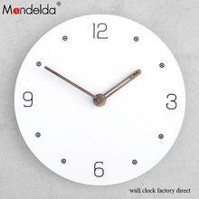 Mandelda Modern Simple Creative Wall Clock Liveroom/Bedroom Northern Europe Watch Silent European Style Hanging