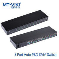 MT VIKI 8 Port Auto PS/2 KVM Switch Hot Key OSD Menu 1 PS2 Keyboard Mouse Control 8 PCs Rackmount Daisy Chain Support MT 2108RD