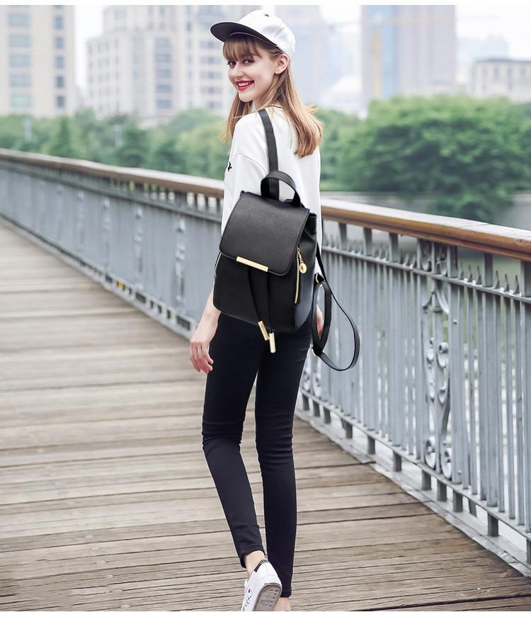 HTB1IV3Zfwn.PuJjSZFkq6A lpXaV Ainvoev Bookbag Women Backpack Fashion Girls Leather Backpack Candy Color Teenage School bag Mochila High Quality Satchel