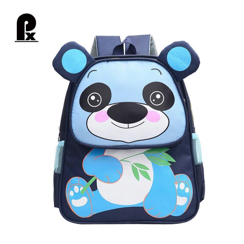 New Fashion Children School Bags for Boys Girls Cute Panda Backpack Nylon Cartoon Schoolbag Pupil Kid Backpacks Mochila Infantil