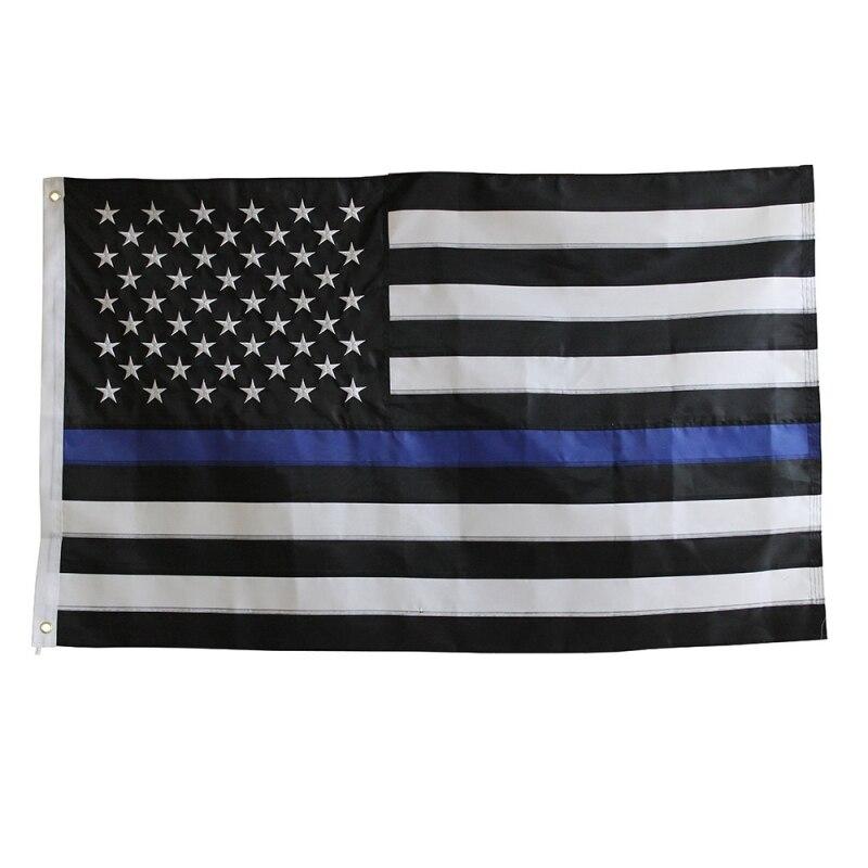 thin blue line union flag patch cops - 800×800