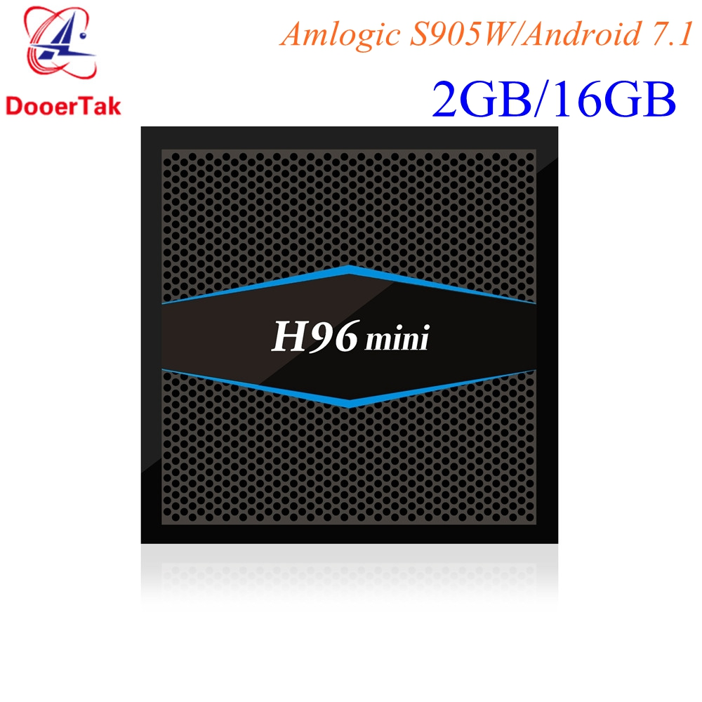H96 mini TV BOX Android 7.1 Amlogic S905W Quad core 2GB/16GB Smart Media Player 2.4G 5G Dual WiFi Bluetooth 4.0 4K H.265-in Set-top Boxes from Consumer Electronics    1