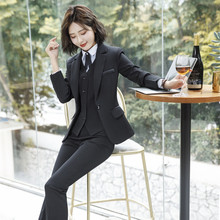 IZICFLY Spring Black Blazer Feminino Female Uniform Business Suits with Trouser Elegant Slim Office for Women Clothing 4XL
