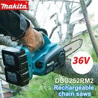 Япония оригинальный Makita Перезаряжаемые электрическая цепь пилы duc252rm2 литиевая батарея пилы взимается дерево цепные пилы duc121rfe 36 В