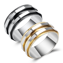 Fashion Men Stainless Steel Ring Unique Irregular Titanium Steel Ring For Boyfriends  Personality Mens Finger Rings Jewelry цена