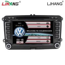Multimedias del coche de Radio auto Estéreo Reproductor de DVD para VW passat B6 Jetta sagitar Tiguan caddy VW GOLF Volante Canbus IPOD GPS