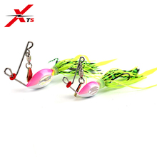 XTS 1 PCS/Bag Fishing Lure 13g 6g Metal Bait Spinner Baits Rubber Jig 4 Colors Rotating Sequins Tackle 4003