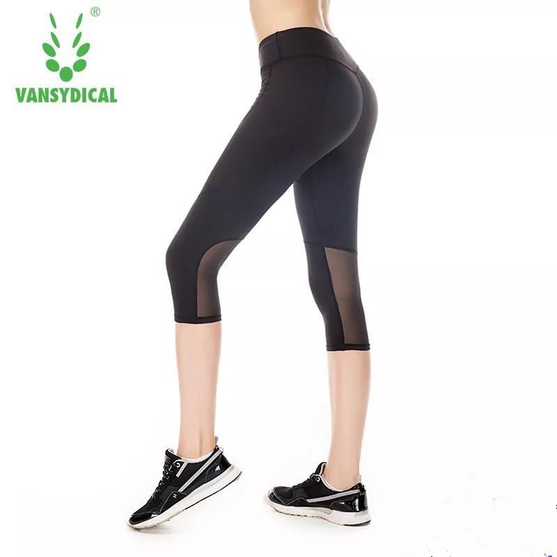 Womens legging capri yoga running fitness trouser run cycling gym sports pants leggings
