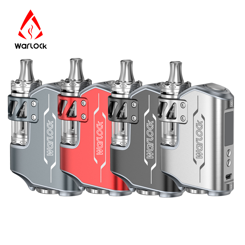 Original Warlock Electronic Cigarette ROFVAPE 75W BOX MOD Kit E Cigarette TC Kit with Submerged Atomizer - 5.5ml & 4 Colors Tank small cigarette box vending machine bjy b50 with light box