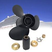 Preto Da Liga de Alumínio Da Hélice Do Motor De Popa 13x19 para Mercury 40-140HP 48-77346A45 Motor Vehicle Boat Peças Acessórios