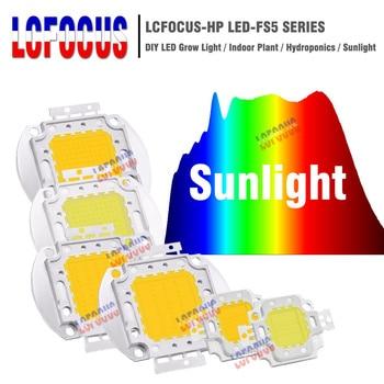 1 Вт 3 Вт 5 Вт 10 Вт 20 Вт 30 Вт 50 Вт 100 Вт светодиодный COB Чип полного спектра солнечного света 380-840нм для выращивания овощей в помещении