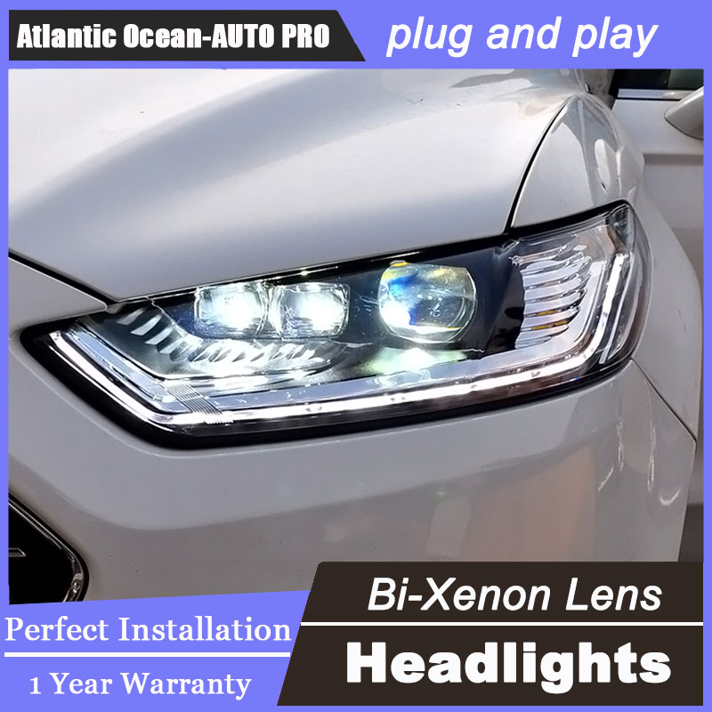 Auto Lighting Style LED Head Lamp for Ford Mondeo led headlights 2014-2015 signal led drl H7 hid Bi-Xenon Lens low beam auto clud style led head lamp for benz w163 ml320 ml280 ml350 ml430 led headlights signal led drl hid bi xenon lens low beam