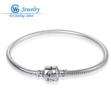 GW Fine Jewelry 925 de Plata de ley Maciza Mujeres Pulseras Brazalete de Joyería de DIY Que Hace Pulseras Nuevas Pulseras De Plata BR008H10