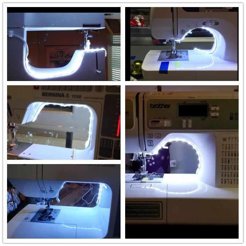 Швейная машина светодиодный свет комплект полосы света 11,8 дюймов DC5V гибкая USB лампа для шитья 30 см промышленная машина Рабочий СВЕТОДИОДНЫЙ свет