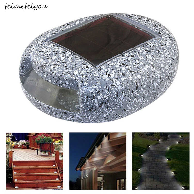 Solar stone Light Outdoor Waterproof lighting LED Underground Light  Resin Solar Lawn lamp for garden