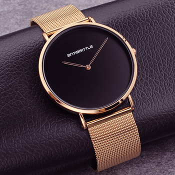 Fashion Japan Quartz Luxury Ultra Thin Man Watch Woman Black Rose Gold Classic Leather Magnet Mesh Stainless Steel Waterproof
