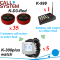 Digital waiter call bell system 35 table transmitter W 5 watch for waitress and 1 keypad for kitchen use