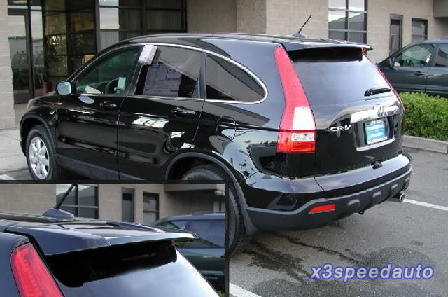 ФОТО High Quality ABS Plastic Painted Factory Style Spoiler Wing For Honda CRV CR V 2007 2011