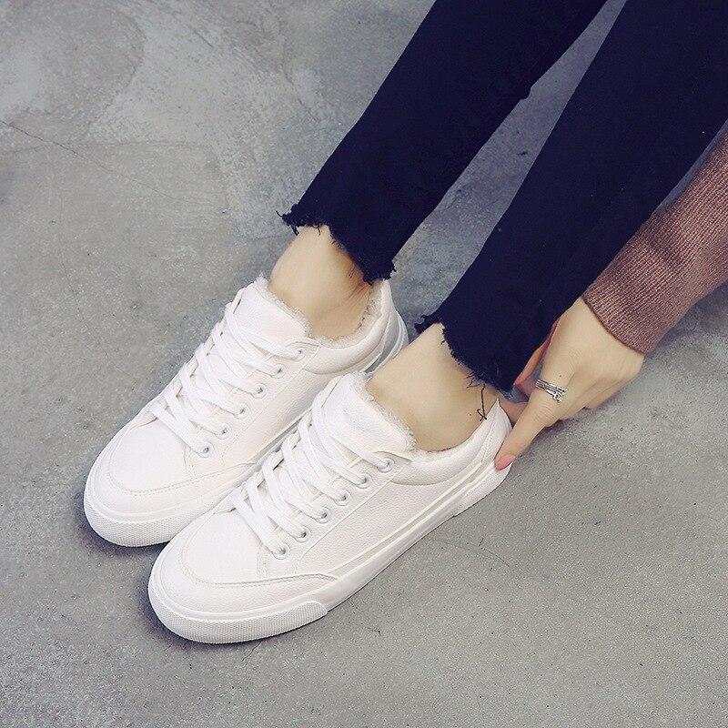 2017 winter warm white walking shoes women plus velvet shoes Korean version  walking shoes B4S1-B4S52017 winter warm white walking shoes women plus velvet shoes Korean version  walking shoes B4S1-B4S5