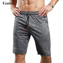 Vertvie Brand New Arrival Men's Running Shirts Elastic Loose Breathable Sportswear Gray Elastic Short Pants For Sportsman Wear