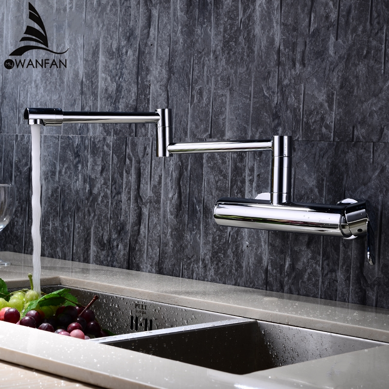 Новые водопроводные краны латунный материал смеситель кран Кухня Раковина кран однорычажный кухонный смеситель для воды Высокое качество ...