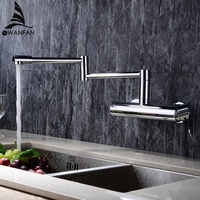 New Water Taps Brass Material Mixer Faucet Kitchen Sink Faucet Single Lever Kitchen Water Mixer Top Quality 360 Rotate Crane L 2