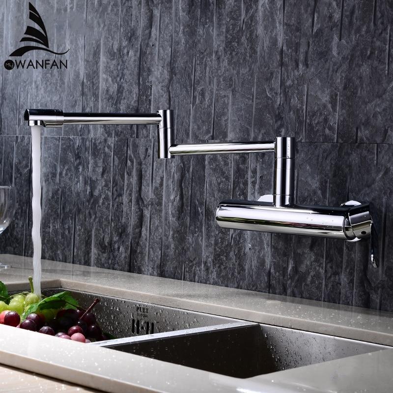 Novas Torneiras de Água Material de Bronze Misturador Torneira Da Cozinha Torneira Da Pia torneira Da Cozinha única Alavanca Misturador de Água Top Qualidade 360 Girar Guindaste L-2
