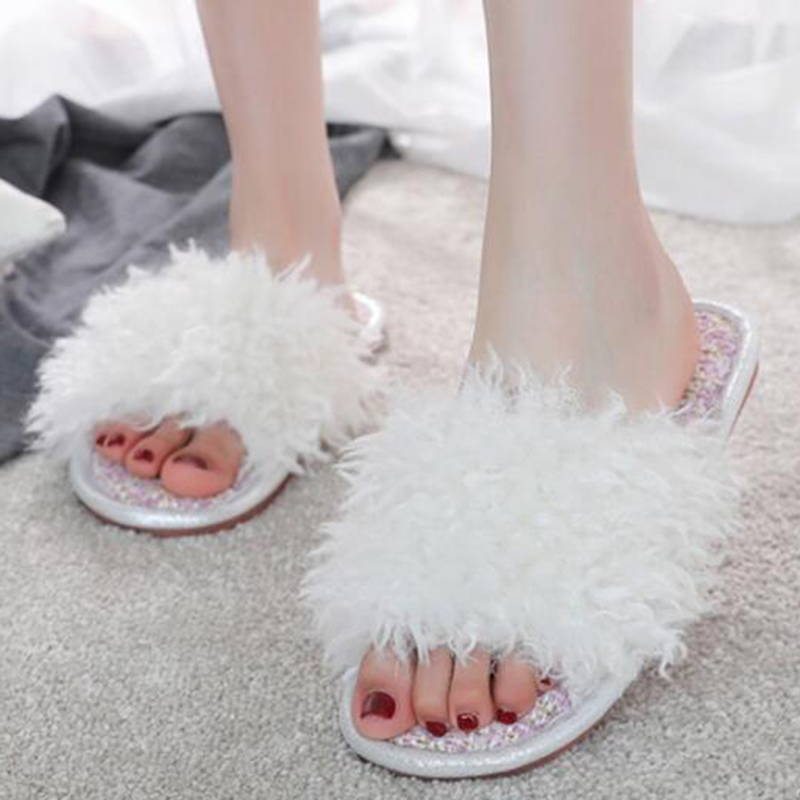 2019 New Spring Summer Autumn Winter Home Cotton Plush Slippers Women Indoor\ Floor Flat Shoes zapatos de mujer s133