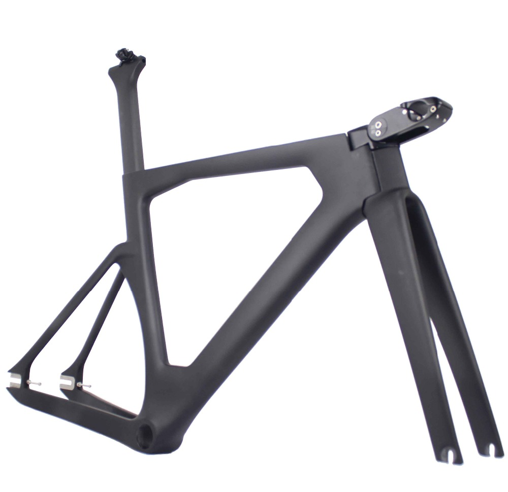 MIRACLE 2020 Full Carbon Track Frame Road Frames Fixed Gear Bike Frameset With Fork Seat Post 48/51/54cm Carbon Bicycle Parts