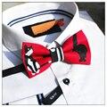 La novedad de Los Hombres o de Las Mujeres corbata de Lazo Rojo Gatito Gato Mascota Pajarita