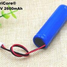 1 шт. VariCore 3,7 в/4,2 в 2600 мАч 18650 литий-ионная аккумуляторная батарея отрицательный провод+ PCB для пылесоса/уборочной машины ues