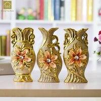 Gold Ceramic Vase Moderne Ceramique Home Decoration Electroplated Flower Vase Small European Crafts Plating Gold QAB132
