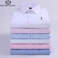 Sergio K Camisa 2018 Long Sleeve Slim Men Dress Shirt Brand Fashion Designer For Male Clothing