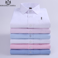 Sergio K Camisa 2018 Long Sleeve Slim Men Dress Shirt Brand Fashion Designer For Male Clothing