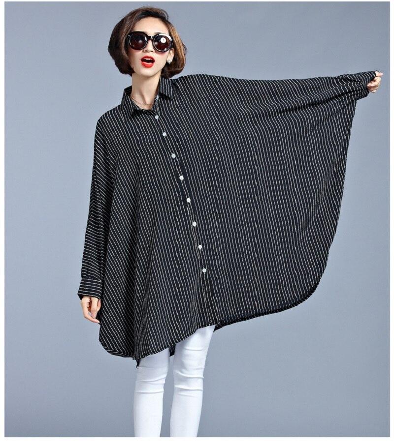 Largo Blusa Tops Gran Negro Irregular Tamaño Las Larga Manga Señoras Camisa Kimono 2019 Verano De Mujeres Gasa Primavera Mori w6ICcqX